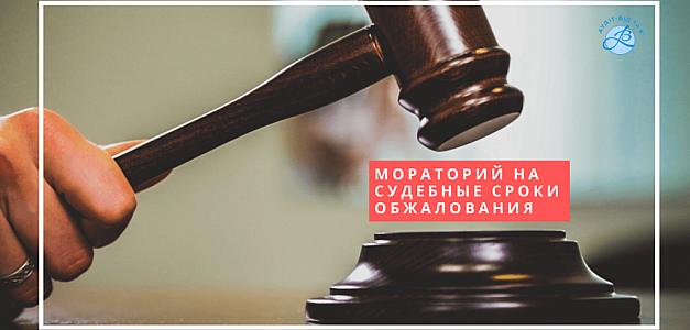 Мораторий на судебные сроки обжалования